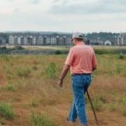 Lonely Senior In Field